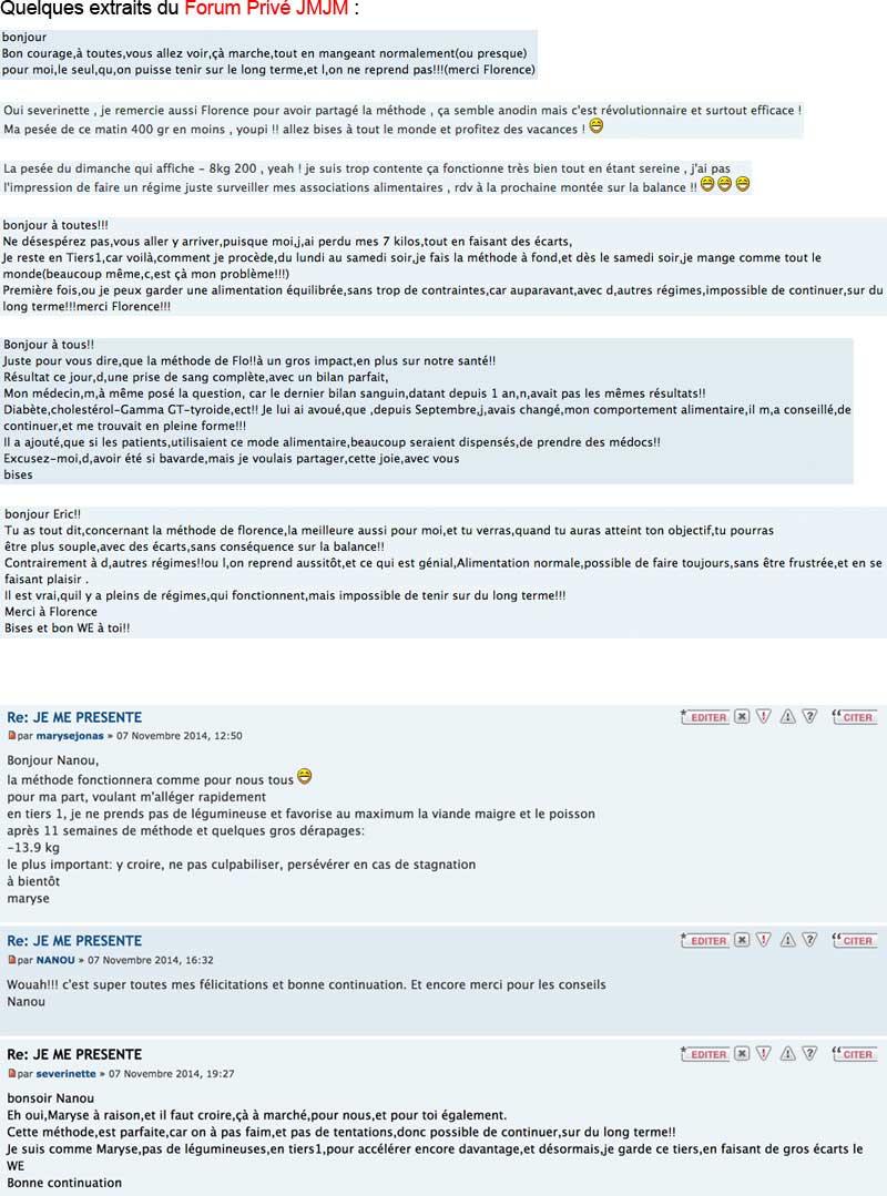 Extraits du Forum Privé JMJM