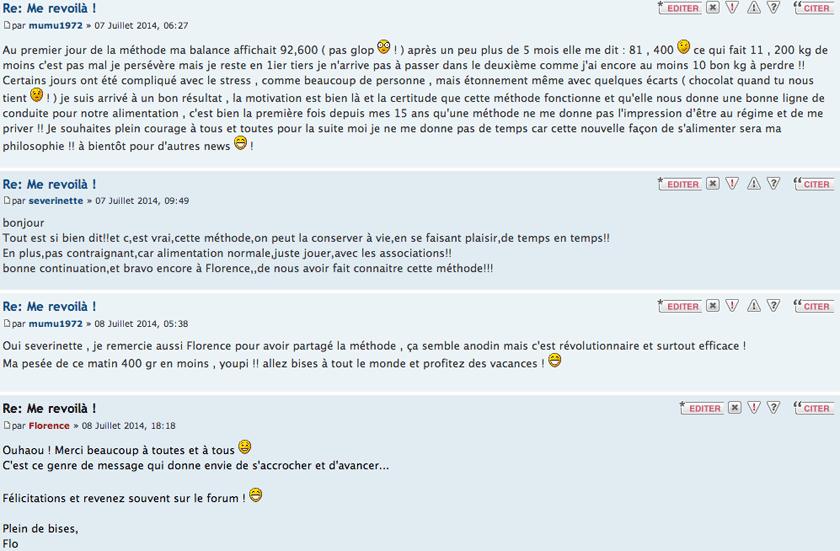 Témoignages issus du Forum Privé