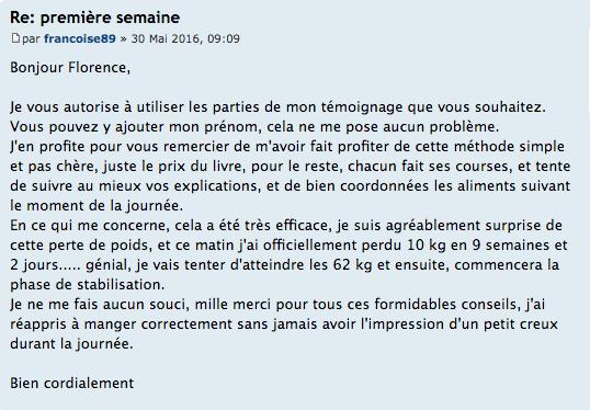 Témoignage Françoise